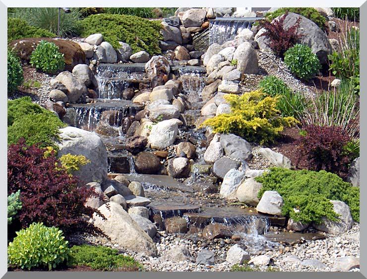 Brandie Newmon Waterfall in Ogunquit, Maine stretched canvas art print