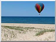 Brandie Newmon Hot Air Balloon At The Beach stretched canvas art