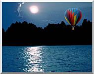 Brandie Newmon Hot Air Balloon At Night stretched canvas art