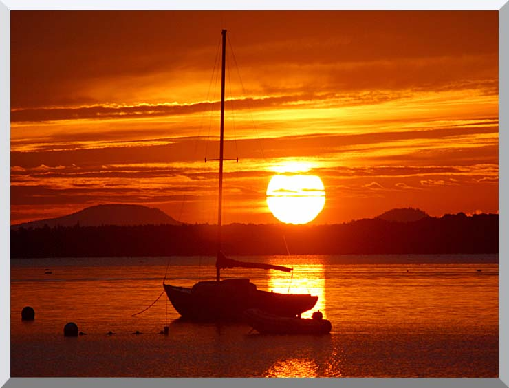 Kim O'Leary Photography Beautiful Sunrise stretched canvas art print