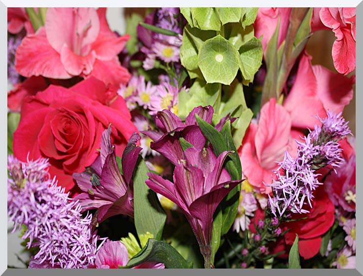 Kim O'Leary Photography Flower Bouquet stretched canvas art print