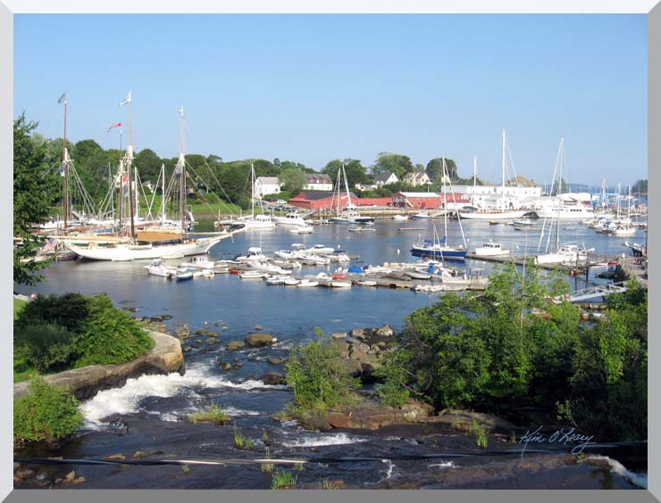 Kim O'Leary Photography Camden Harbor, Camden Maine stretched canvas art print