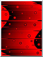 Lora Ashley Balance Red And Black stretched canvas art