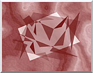 Lora Ashley Fragments Unite Cranberry Brown stretched canvas art