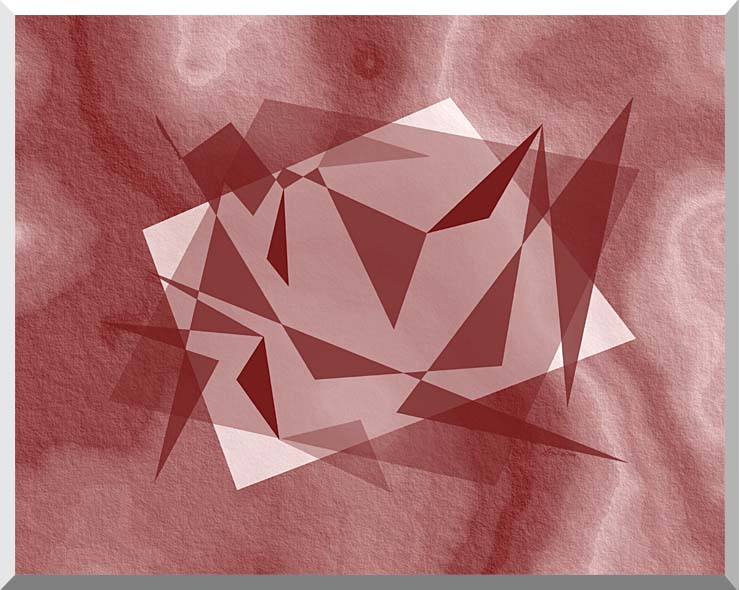 Lora Ashley Fragments Unite (Cranberry Brown) stretched canvas art print