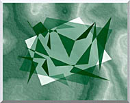 Lora Ashley Fragments Unite Green stretched canvas art