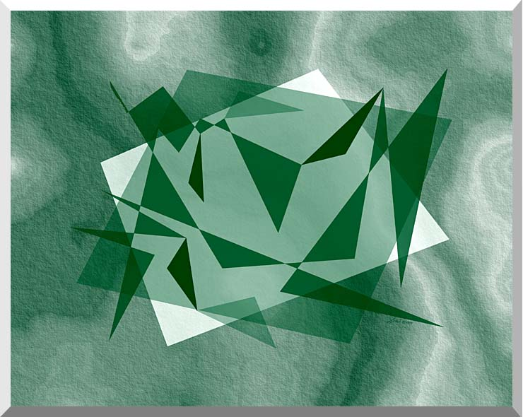 Lora Ashley Fragments Unite (Green) stretched canvas art print