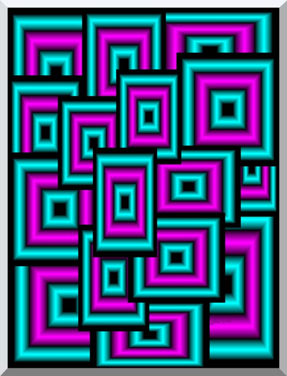 Lora Ashley Data Overload stretched canvas art print