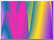 Lora Ashley Rainbow World stretched canvas art