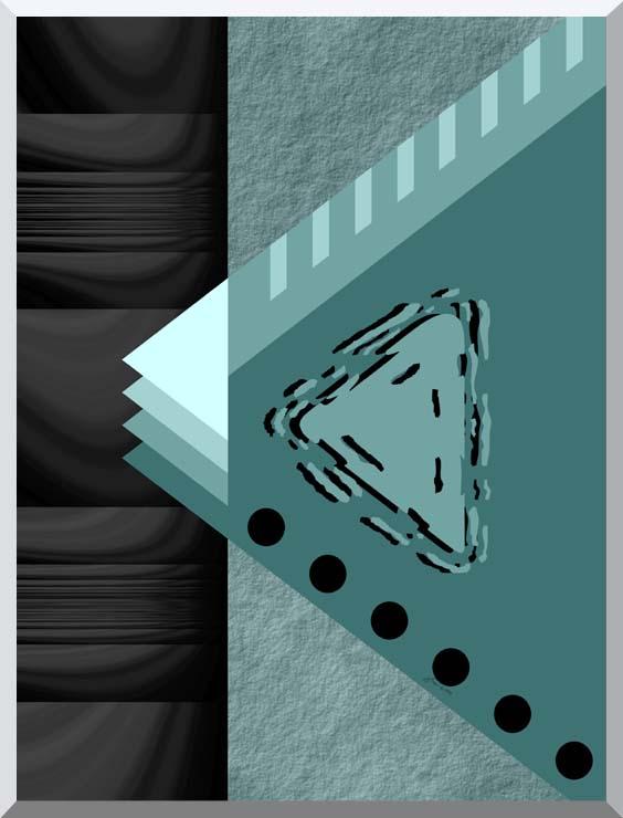 Lora Ashley Plate Tectonics stretched canvas art print