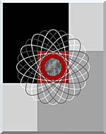 Lora Ashley Nucleus stretched canvas art
