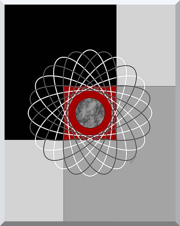 Lora Ashley Nucleus stretched canvas art print