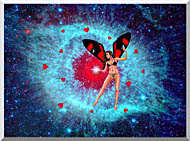 Lora Ashley Fairy Of Hearts stretched canvas art