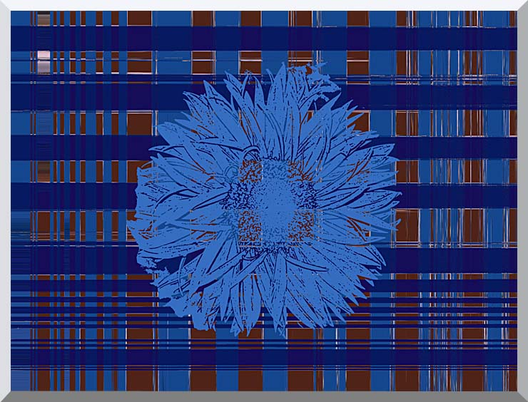 Lora Ashley Blue Floral Tapestry stretched canvas art print
