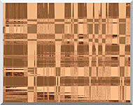 Lora Ashley Contemporary Tan Tapestry stretched canvas art