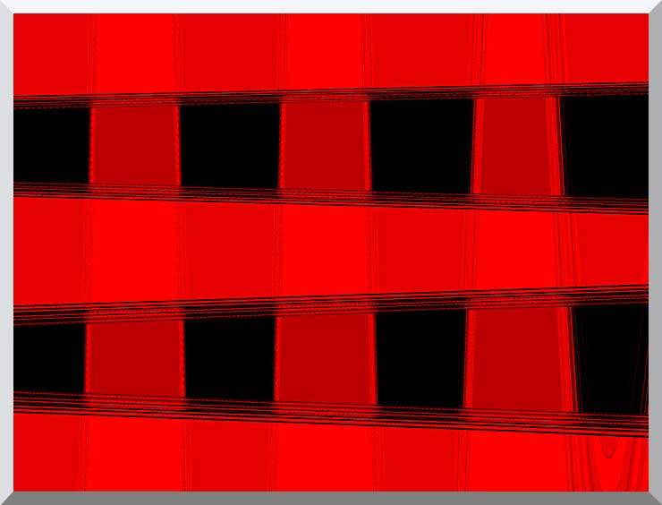 Lora Ashley Modern Black and Red Abstract stretched canvas art print