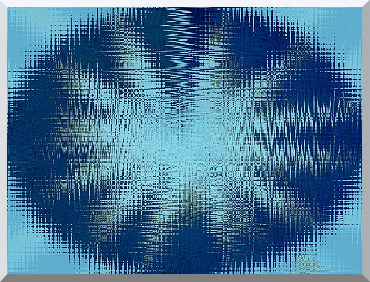 Lora Ashley Abstract Blue Flower stretched canvas art print