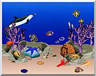 Lora Ashley Ocean Scene Underwater stretched canvas art