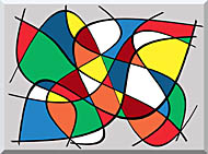 Lora Ashley Abstract stretched canvas art