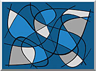 Lora Ashley Contemporary stretched canvas art