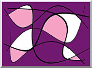 Lora Ashley Purple And Pink Abstract stretched canvas art