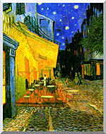 Cafe Terrace at Night Stretched Canvas Art