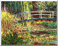 Claude Monet Water Lilies Pink Harmony stretched canvas art
