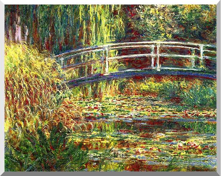 Claude Monet Water Lilies, Pink Harmony stretched canvas art print