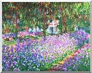 Claude Monet The Artists Garden At Giverny stretched canvas art