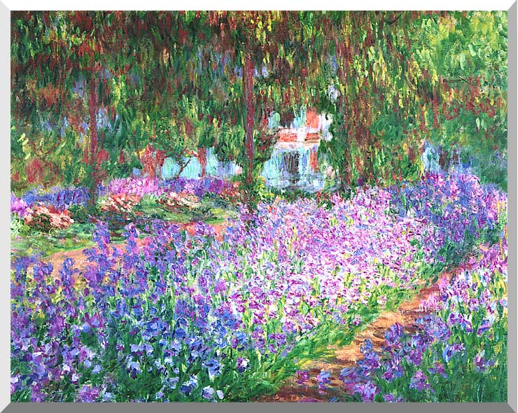Claude Monet The Artist's Garden at Giverny stretched canvas art print