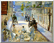 Edouard Manet The Rue Mosnier With Pavers stretched canvas art