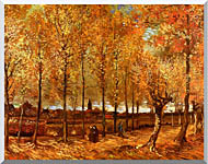 Vincent Van Gogh Lane With Poplars stretched canvas art
