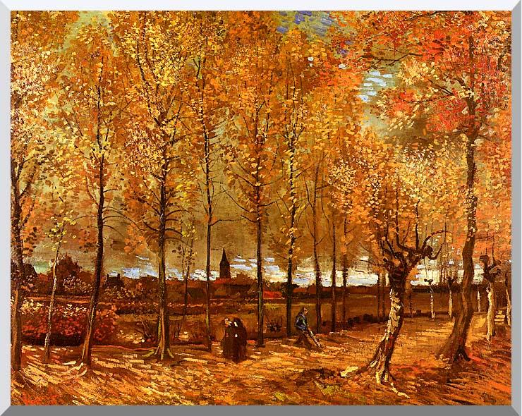 Vincent van Gogh Lane with Poplars stretched canvas art print