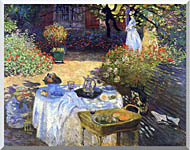 Claude Monet Le Dejeuner stretched canvas art