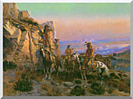 Charles Russell Trouble Hunters stretched canvas art