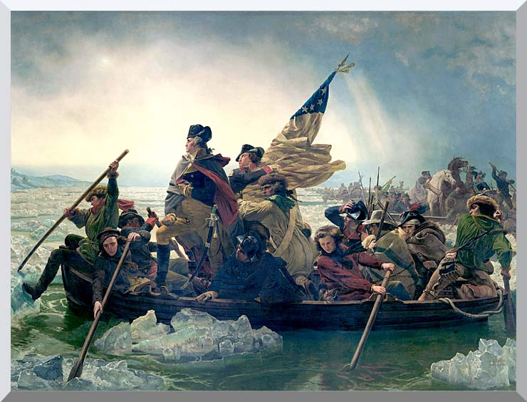 Emanuel Leutze Washington Crossing the Delaware stretched canvas art print