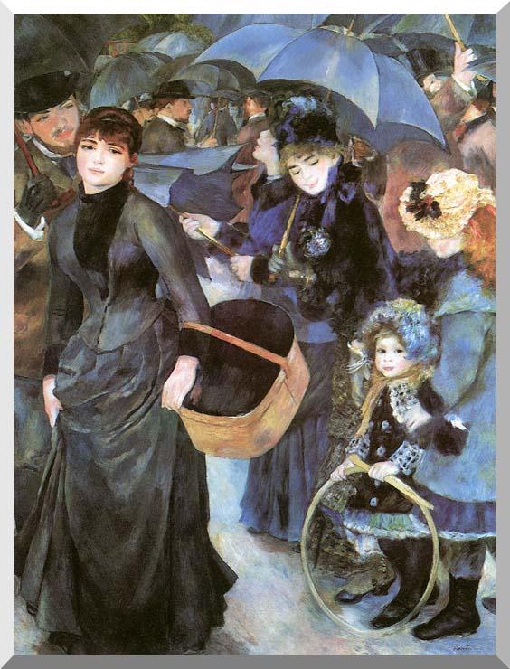 Pierre Auguste Renoir The Umbrellas stretched canvas art print