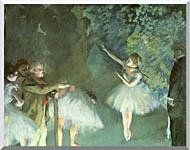 Edgar Degas Ballet Rehearsal stretched canvas art