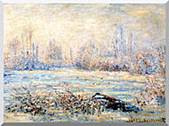 Claude Monet Frost Near Vetheuil stretched canvas art