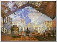 Claude Monet La Gare Saint Lazare stretched canvas art