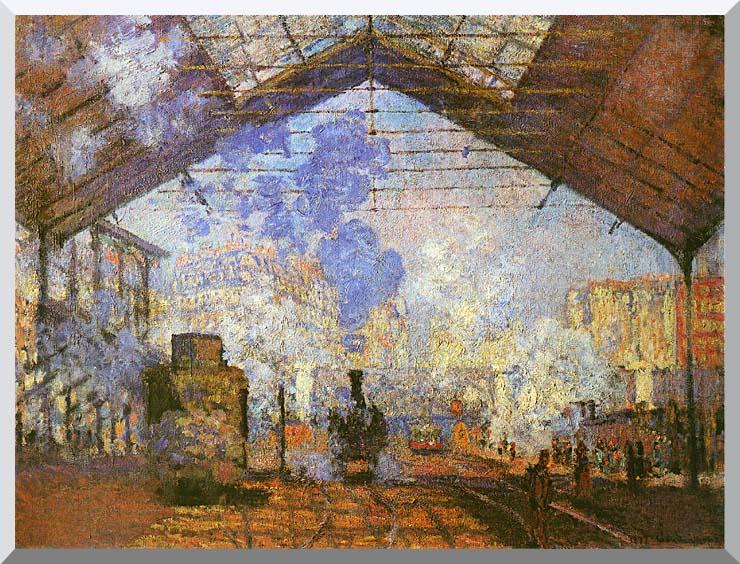 Claude Monet La gare Saint Lazare stretched canvas art print