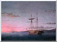 Fitz Hugh Lane Lumber Schooners At Evening On Penobscot Bay stretched canvas art