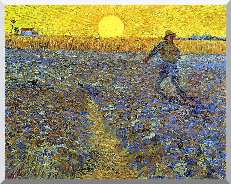 Vincent van Gogh The Sower stretched canvas art print