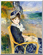 Pierre Auguste Renoir By The Seashore stretched canvas art