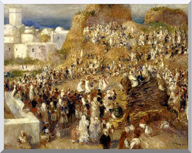 Pierre Auguste Renoir The Mosque, Algiers stretched canvas art print