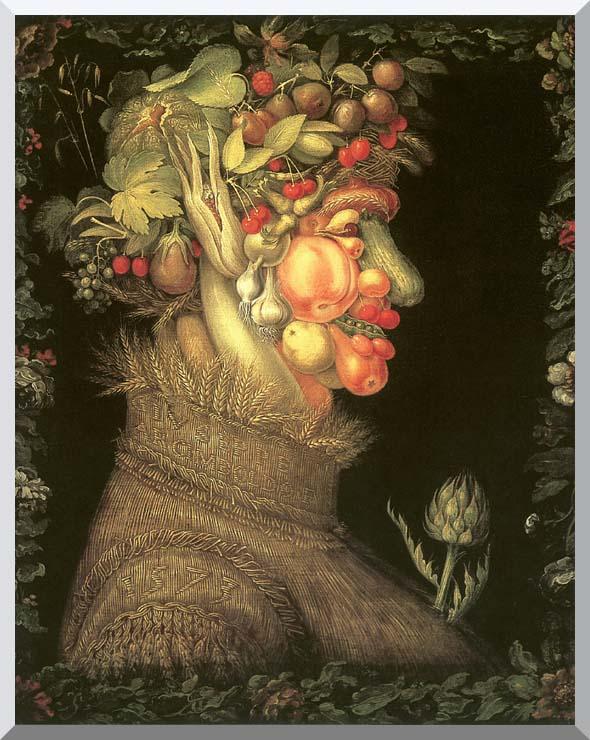 Giuseppe Arcimboldo Summer stretched canvas art print