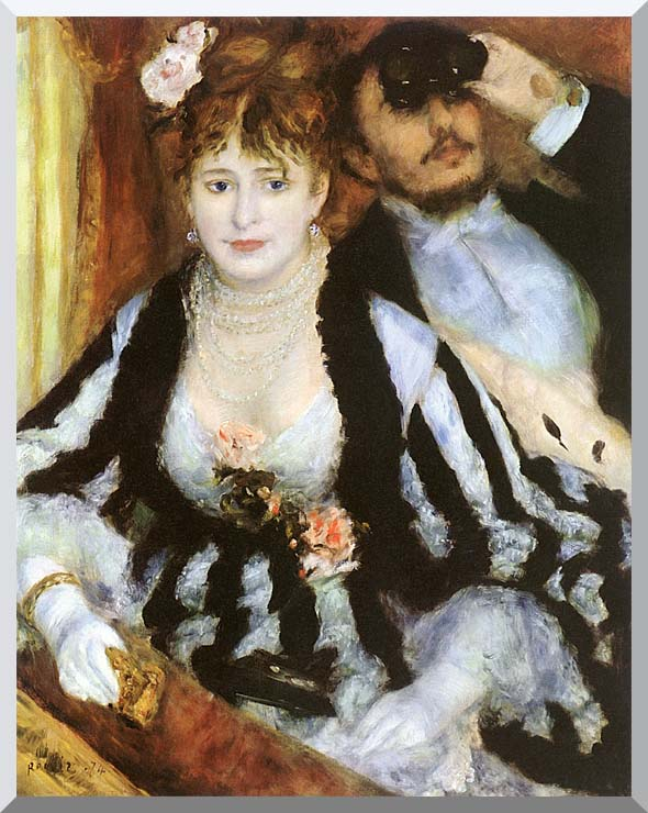 Pierre Auguste Renoir La Loge stretched canvas art print