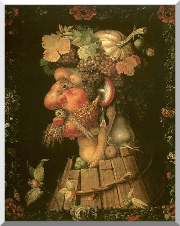 Giuseppe Arcimboldo Autumn stretched canvas art print