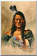 Charles Russell Indian Head stretched canvas art