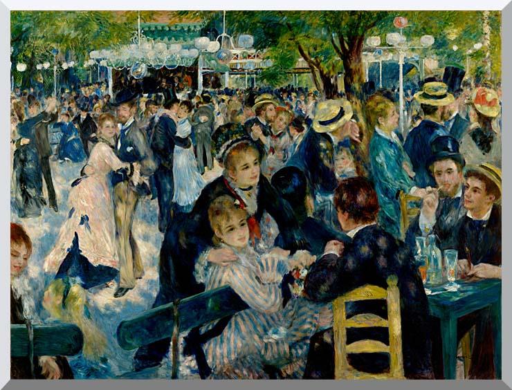 Pierre Auguste Renoir At the Moulin de la Galette stretched canvas art print